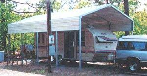 camper protection shed
